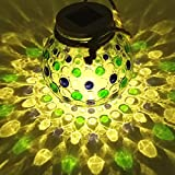 Sogrand Solar Jar Lights Outdoor Lids for Mason Jars Hanging Lantern Decor 2018 of The Day Warm White LED Rope Hanger Blue Green Light Lid Decorative Lamp for Patio Garden Bar Party