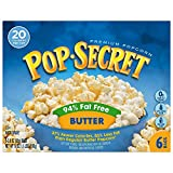 microwave fat free popcorn - Pop Secret 94% Fat Free Butter Popcorn, 6 Count Boxes (Pack of 6)