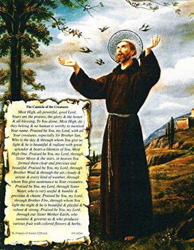 The Canticle of the Creatures By St Francis of Assisi on Archival Art Card