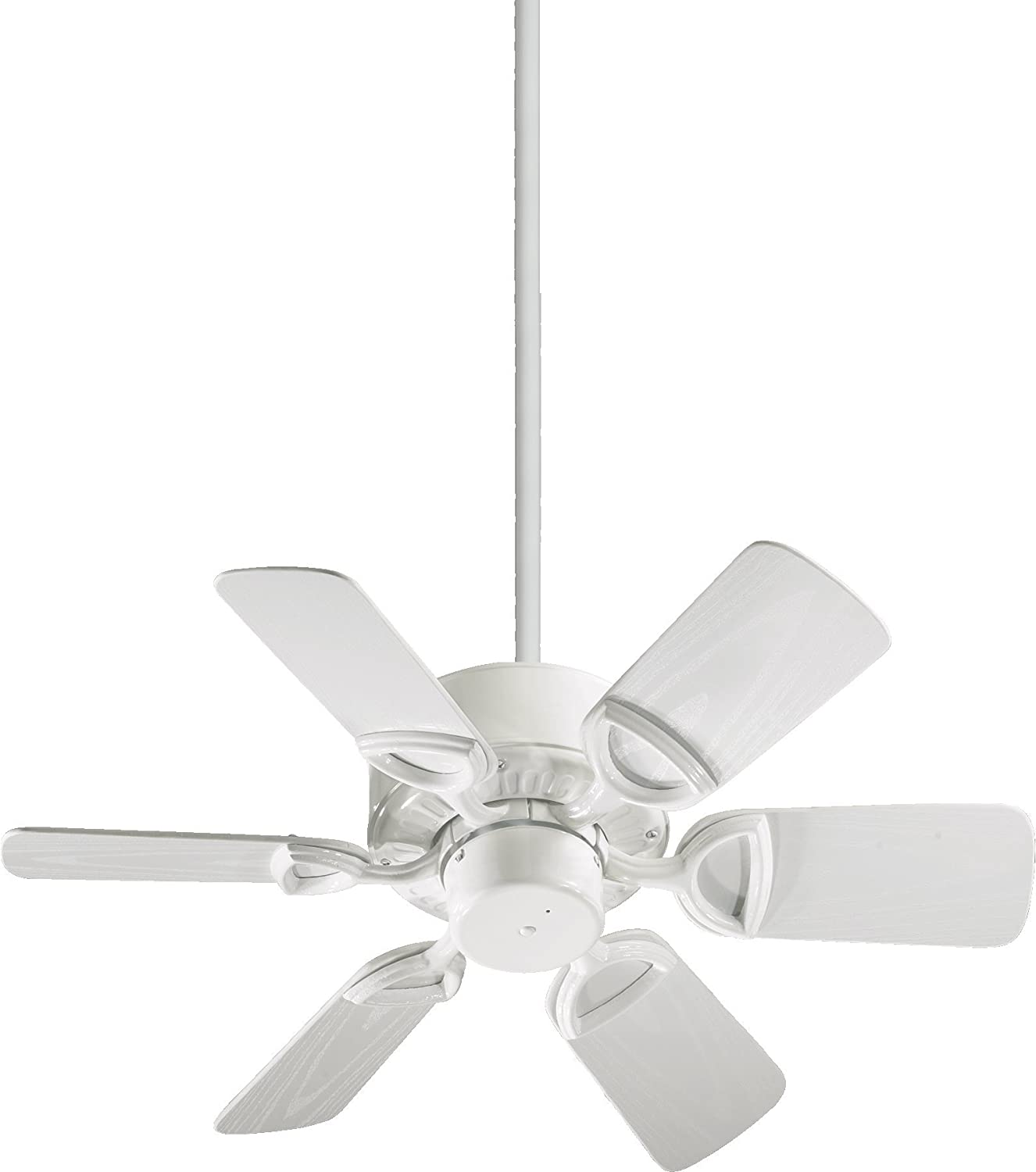 Quorum International 143306 6 Estate Blade Patio Ceiling Fan With White ABS Blades 30 Inch Gloss Finish