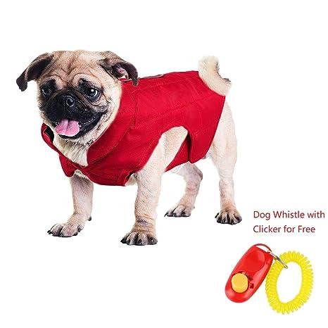 zhaolian888 Ropa Abrigada para Perros Impermeable Impermeable Abrigo de Invierno para Perros Mascotas Reversible - Ropa