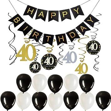 Decoraciones para fiesta de cumpleaños 40, regalos de ...