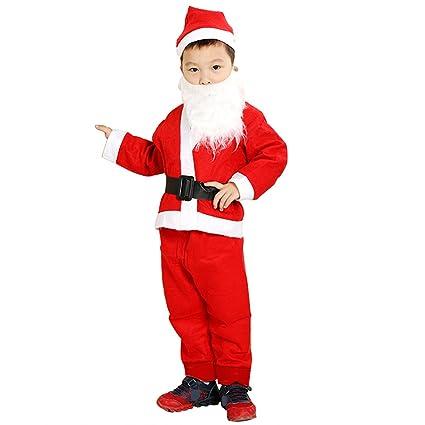 Disfraz de Papa Noel para niño 6-9 Años Tamaño.