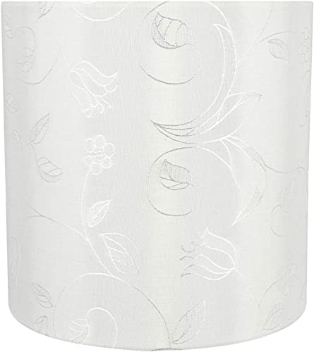 Aspen Creative 58304 Transitional Drum Cylinder Shape Construction White, 8 Wide 8 x 8 x 8 UNO LAMP Shade