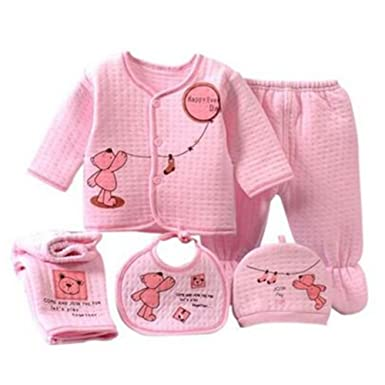 70e2f51df2201 0-3M Clothing Set Baby Boy Girl Clothes 100% Cotton Cartoon Underwear 5pcs/