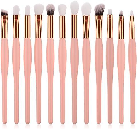 Sonew [Pack de 12] brochas de maquillaje profesional cosméticos ...