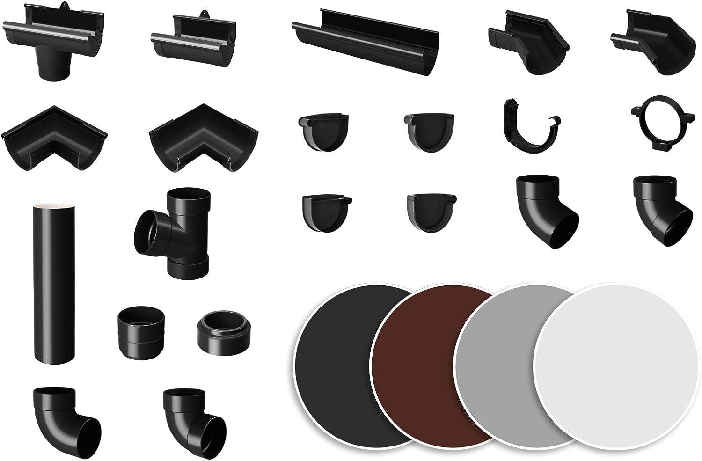 Sistema de canalones de PVC RainWay90 Marr/ón 90 mm