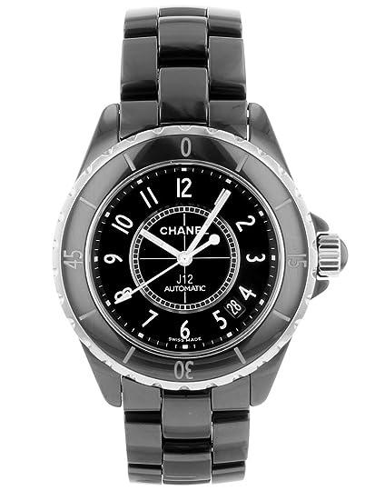 brand new 73d00 3c78c Amazon   [シャネル] 腕時計 CHANEL J12 38mm H0685 ブラック ...