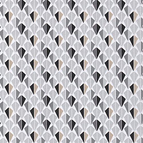Odeca 100/% Cotton Fabric Modern Small Geometric Grey Creatifs Faience