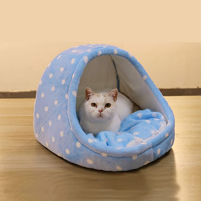 Amazon.com : Pet Waterloo Cat Sleeping Bag Pet Bed Semi-Closed Bed Small Pet Sleeping Pad Cat House Keep Warm Pet Supplies (Color : Pink, Size : 353525cm) ...
