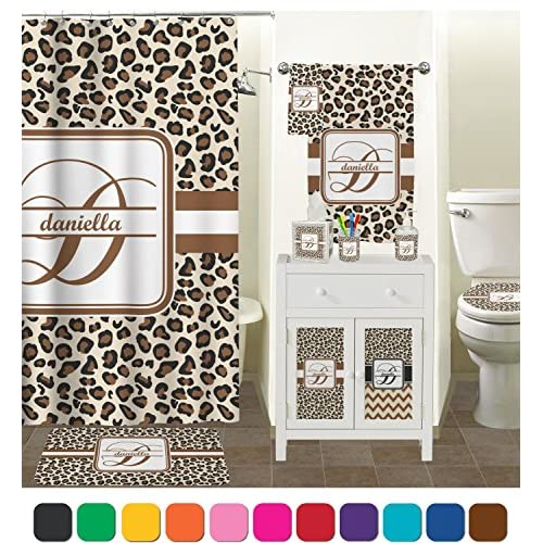 Leopard Print Toilet Seat Decal - Round (Personalized) outlet