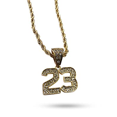 f5ad5ba7ca93a Technoking 20K Gold Plated Hiphop Cross Pendant Necklace, High Fashion Iced  Out Crystal Jewelry for Rapper Bling Chains 24 Inch with Free Earrings ...