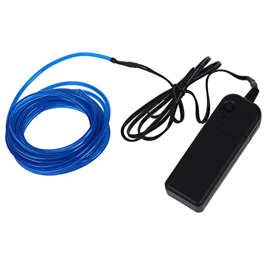 9ft Blue Neon Glowing Strobing Electro Luminescent Wire (EL Wire ...