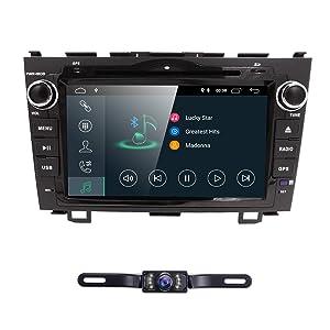 hizpo Android 8.1 Car Radio for Honda CRV CR-V 2007 2008 2009 2010 2011 8 inch DVD Player WiFi GPS Navigation Stereo Bluetooth + Camera