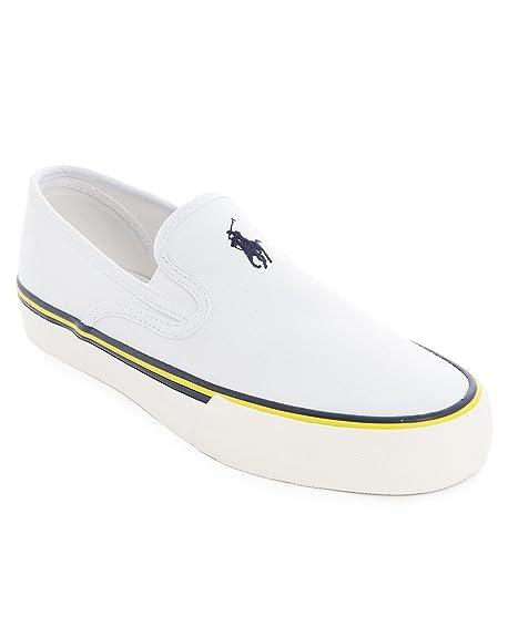 Polo Ralph Lauren – Zapatillas Deportivas – Hombre – Lienzo Blanco ...