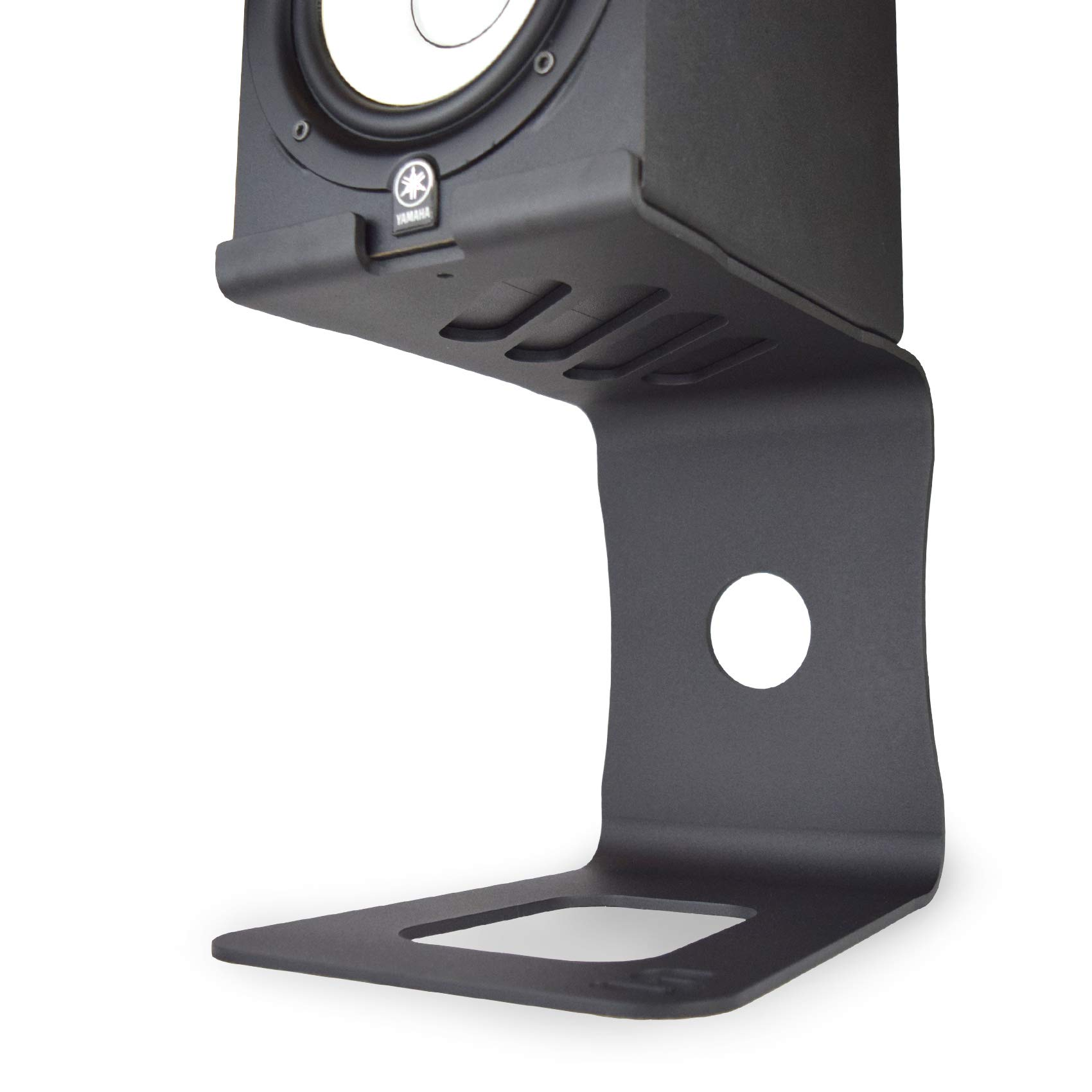 Soundrise PRO Studio Monitor Stands (Black/Pair) - Aluminum Desktop Speaker Stands for Studio Reference Monitors 100% Made in USA (Black) by Soundrise