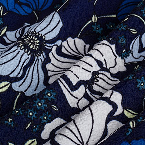 Merope J Femmes Imprimés Volants Cou Marine Robe Contraste Crayon Noir Ol +