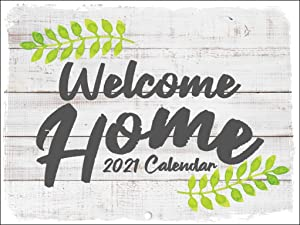 Welcome Home Rustic Farmers Market Style Watercolor Decor Country Farmhouse 2021 Wall Calendar 12 Month Monthly Full Color Thick Paper Pages Folded Ready to Hang 18x12 inch