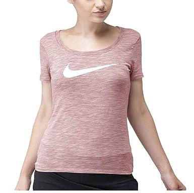 b1c1d2b58164b Nike Women's Plus Dri-Fit Swoosh Graphic Tee-Rust Pink-3X at Amazon ...