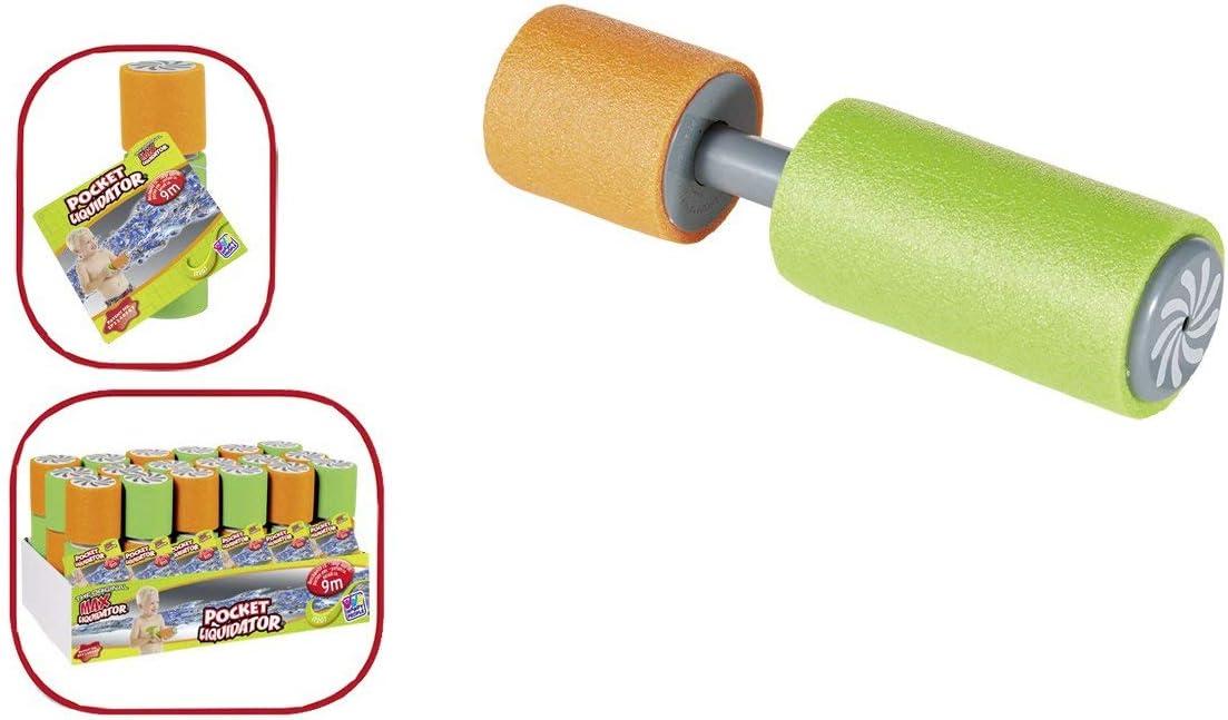 Happy People 17207 - juguetes de playa y baño - liquidador de bolsillo, espuma de inyección de agua, 19.5 x 6 cm, surtido