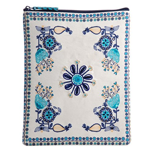 Ipad-Galaxy Tablet Sleeve case Compatible Upto 10.5 inch Screen Size Travel Protective Bag Pouch (Design Embroidered Lurex)