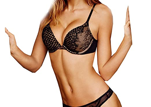 e5054ec0f0 Image Unavailable. Image not available for. Color  Victoria s Secret  Bombshell Plunge Push Up Bra ...
