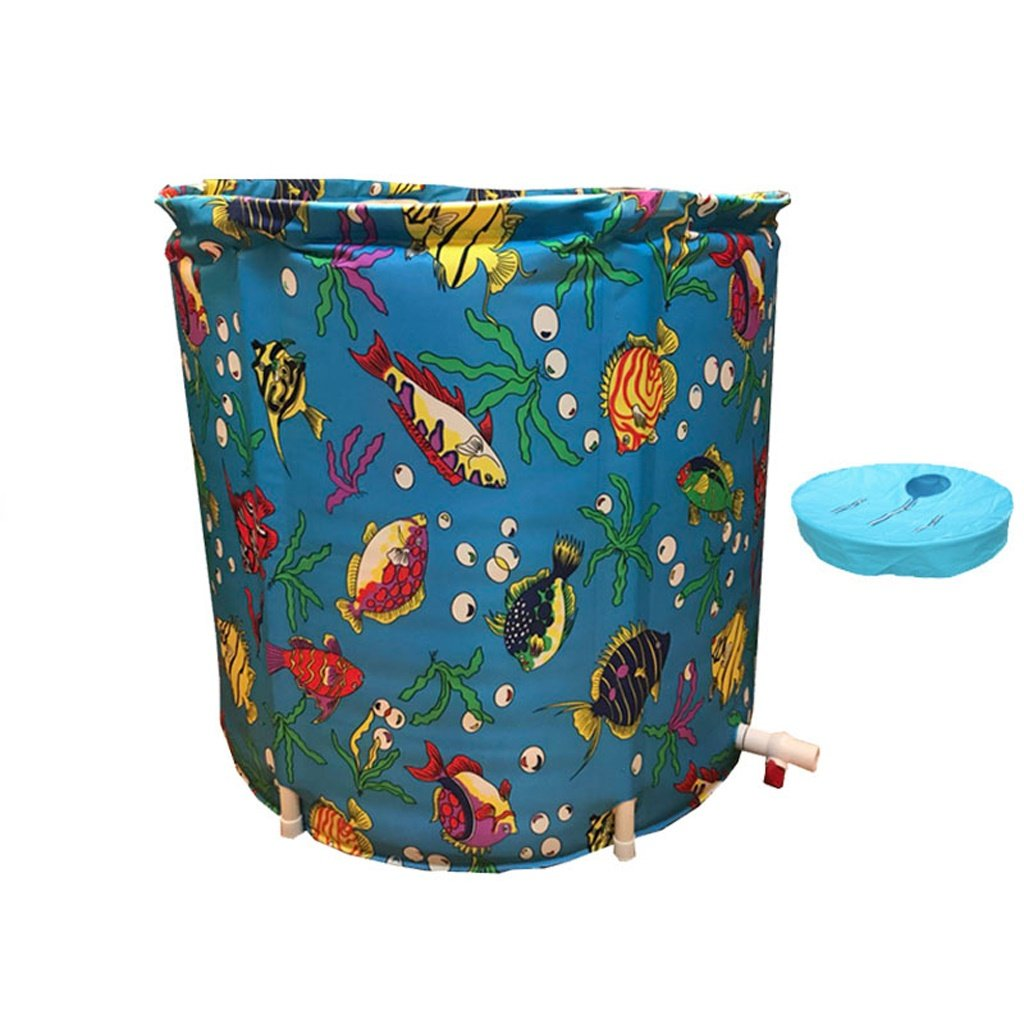 Small+Lid Global- Oxford cloth body thickening free inflatable disassembly folding bucket for indoor outdoor use (Size   Small+Lid+Bag)