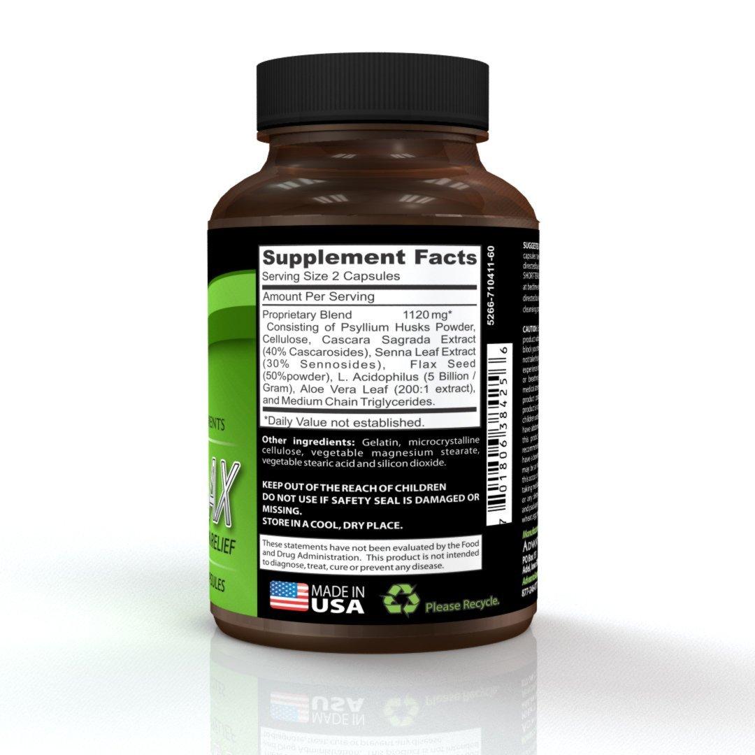 Amazoncom Advantalax Constipation Relief Safe Natural Laxative
