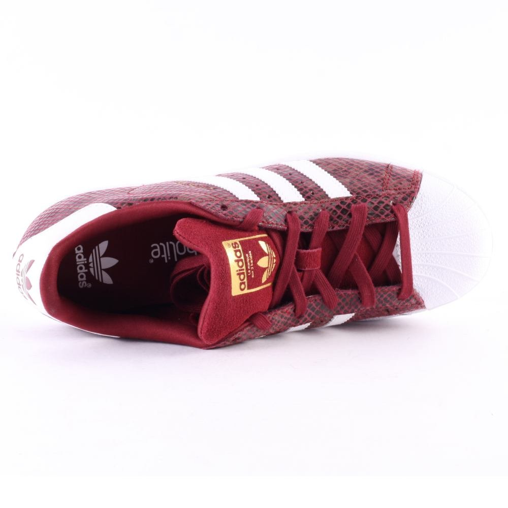 adidas Superstar Snake Mädchen Sneaker Dunkel Rot: