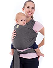 Baby Wrap Carrier by KeaBabies - All-in-1 Stretchy Baby Wraps - Baby Sling - Infant Carrier - Babys Wrap - Hands Free Babies Carrier Wraps | Great Baby Shower Gift (Mystic Grey)