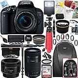 Canon EOS Rebel T7i Digital SLR Camera 1894C002 with EF-S 18-55mm IS STM + 64GB (EF-S 55-250mm Telephoto + EF 50mm STM) Triple Lens Exclusive Bundle For Sale