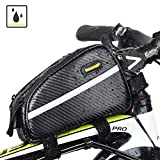 Sodee Bike Bag Top Tube Bag Front Tube Frame Bag Double Zipper Design Water Resistance Bicycle Bag Professional Cycling Accessories