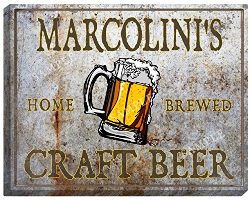marcolinis-craft-beer-stretched-canvas-sign