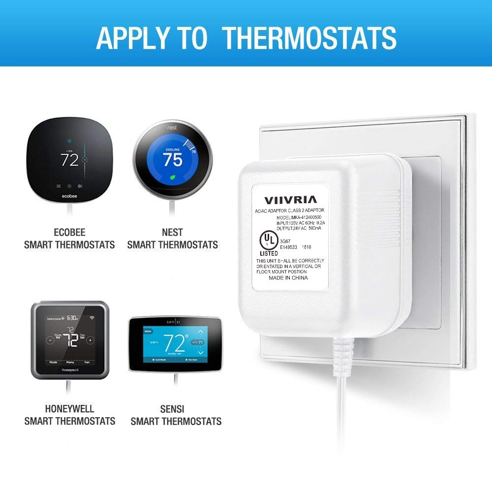 24 Volt Transformer C Wire Adapter Thermostat Competible With All Wiring Two Transformers Versions Of Ring Doorbell And For Nest Ecobee Sensi Honeywell