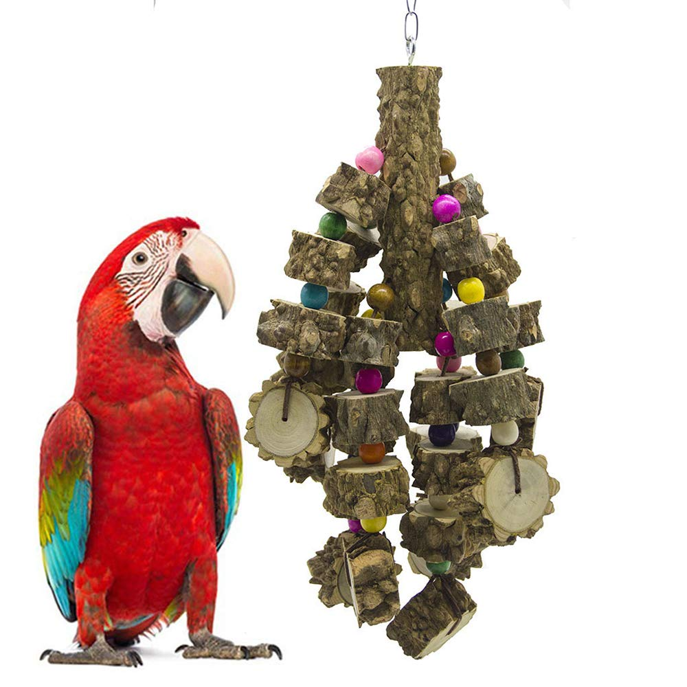 Medium and Large Bird Toy Peppercorns Wood Bite String Hanging String Bite String Parred Toy Home Bird Cage Decoration Accessories Long-Tailed Parred Macaw