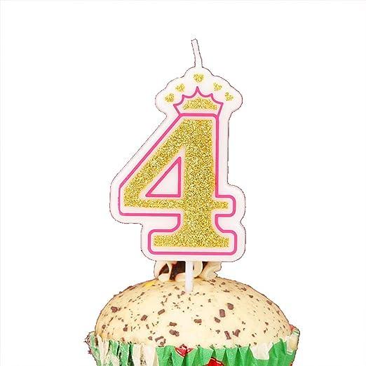 LOVELY BITON - Velas de cumpleaños, diseño de número de 0 a ...
