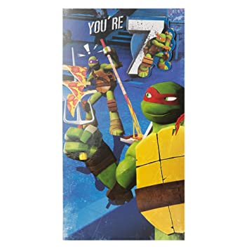 Hallmark Teenage Mutant Ninja Turtles 7th Birthday Card For Him
