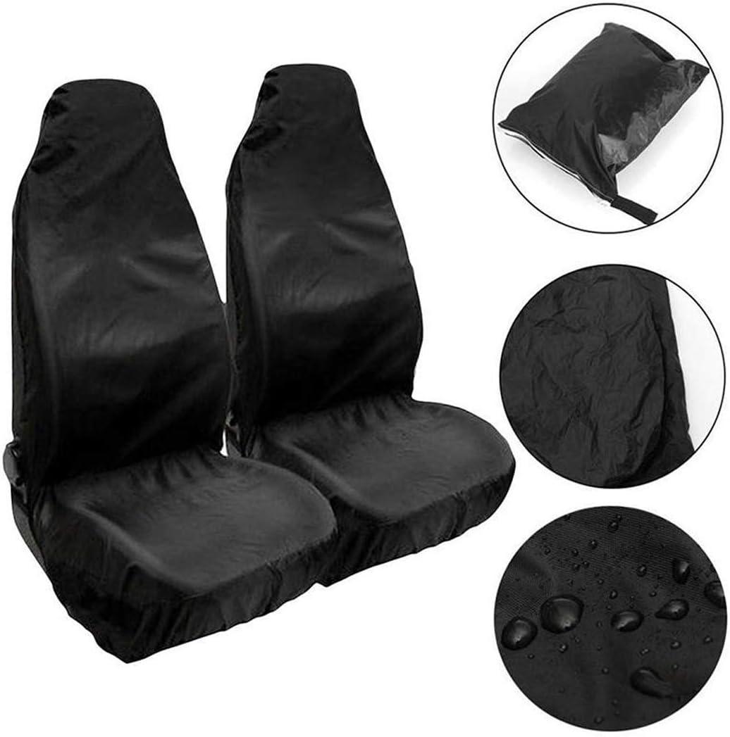 1 Paar schwarzer Autositzbezug kompletter Satz klassischer Autositzbez/üge aus Stoff faltbar rutschfestes Auto strapazierf/ähiges Polyester langlebig