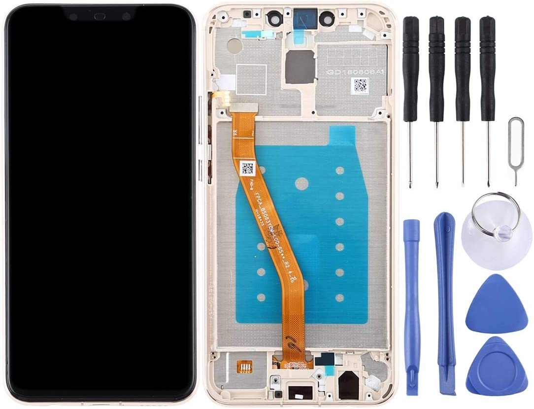 Color : Blue Black YANGJ LCD Screen and Digitizer Full Assembly with Frame for Huawei Mate 20 Lite//Maimang 7