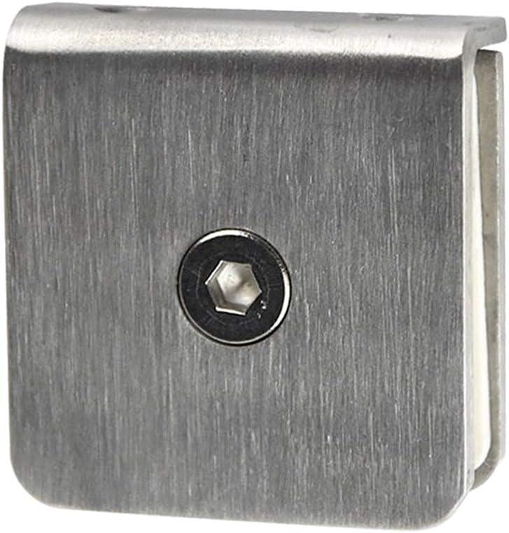 90 Grad Single wie Gezeigt H HILABEE Edelstahl Glas Clamp Clip F/ür Duschraum Panel