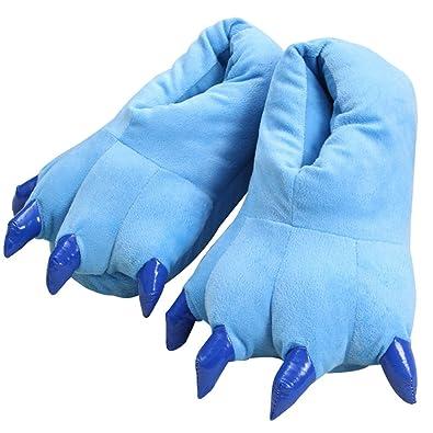 c5f36080b0a Ecommerce Trade Ltd Monster Feet Size 4-8 Christmas Novelty Plush Slippers  Boys Girls Ladies