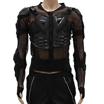 con chaqueta lomo de protección hombre malla de motocicleta Para 7YUqP