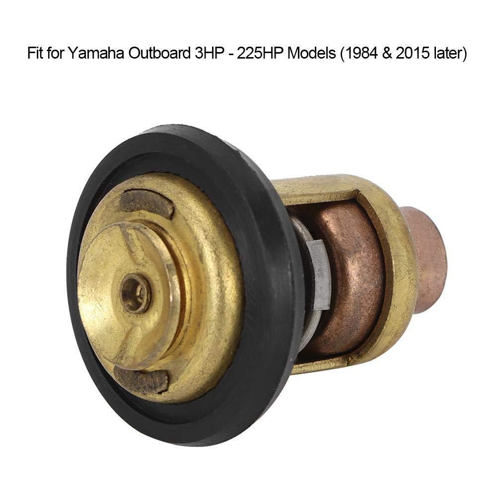60 Grados Modelos 225HP 1984 y 2015 m/ás adelante Broco Fit v/álvula de termostato for Yamaha Outboard 3HP