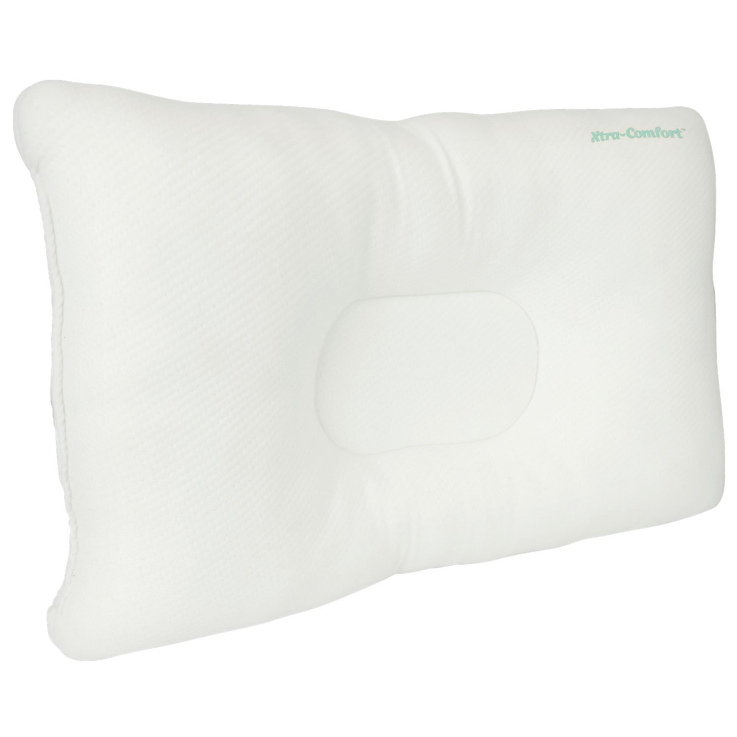Cervical Pillow by Xtra-Comfort - Neck Pain Relief for Back and Side Sleepers - Comfortable & Therapeutic Chiropractic & Orthopedic Support Contours for Head and Spine Alignment (White)