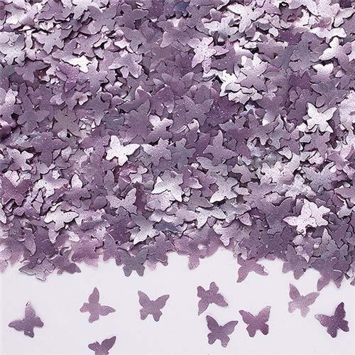 Natural Edible GMO Sugar Nuts Gluten Soy Free Glitter Butterfly (Purple) ()