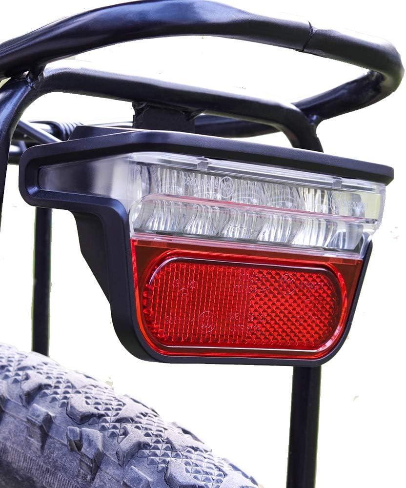 24~60V E-bike Headlight Tail Rear Lights LED Brake Lamp Electric Bike Light