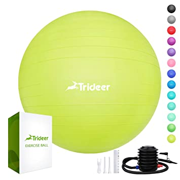 Amazon.com: Trideer - Pelota de ejercicio (17.7 – 33.5 in ...