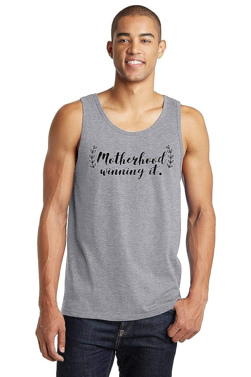 Comical Shirt Mens Motherhood Winning It Tank Top