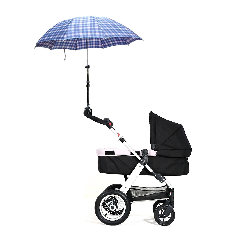 VANKER Durable ajustable soporte del sostenedor del cochecito de bebé del cochecito de niño de la carretilla sombrilla