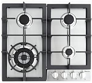 """Magic Chef 24'"""" Built Stainless Steel MCSCTG24S 24"""" Gas Cooktop with 4 Burners"""